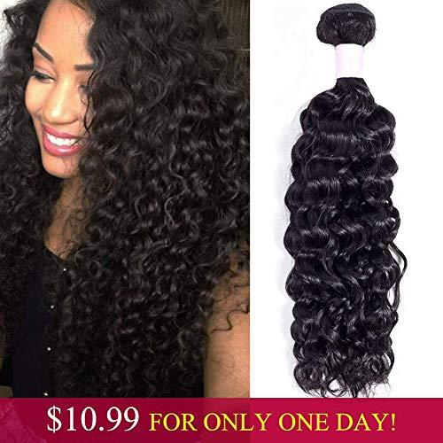 9A Brazilian Curly Hair 1 Bundle Curly Human Hair Weave (10 Inch) 100% Unprocessed Virgin Brazilian Hair Bundles 100g/pc Natural Black Color