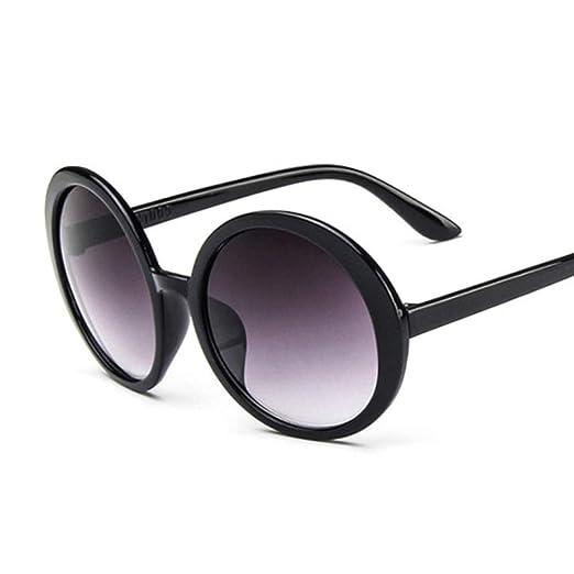 Yangjing-hl Gafas de Sol Redondas Mujer Espejo Plástico ...