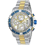 Invicta Men's Pro Diver Quartz Watch with Stainless-Steel Strap, Two Tone, 22 (Model: 23994)