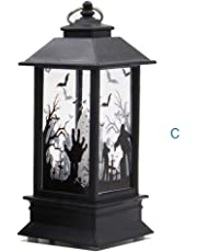 Iusun Halloween Candle Light, 1PC Pattern Candles Light for Halloween Party Home Garden Lawn Yard Decoration (C)