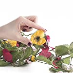 Factory-Direct-Craft-9-Feet-of-Raspberry-and-Yellow-Artificial-Pansy-Garland-for-Home-Decor-Crafting-and-Designing