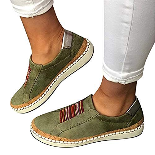 TnaIolral Womens Shoes Fashion Summer Hollow-Out Round Toe Slip On Flast with Sneakers (US:8.5, ()