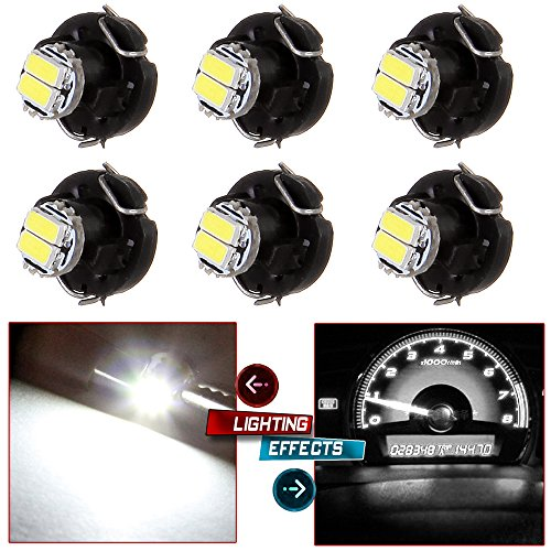1994 Acura Integra A/c (CCIYU 6 x T3 White 2-1206-SMD LED Neo Wedge Instrument A/C Climate Heater Lights Bulbs T3- 8mm Base Diameter / 39397-SA5-003 Fit 2001-2010 Honda Accord Odyssey)