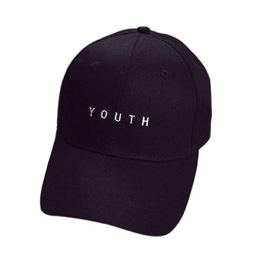 6c252202675 Amazon.com  Toponly Baseball Cap Boys Girls Embroidery Letter Cotton  Snapback Hip Hop Flat Trucker Hat Black  Clothing