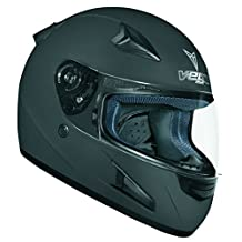 Vega Helmet X888 Full Face Helmet, Flat Black, X-Large