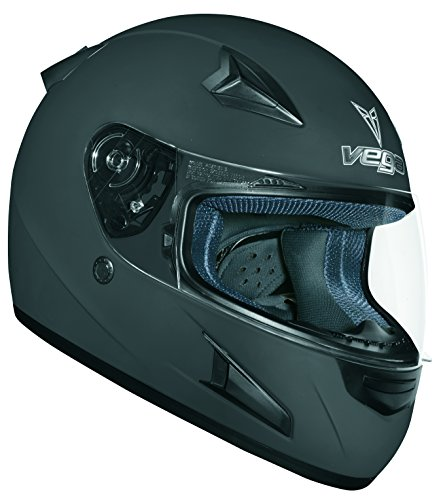 Flat Black Full Face Motorcycle Helmet - 9