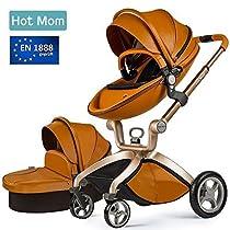 Hot Mom, Passeggino 3-in-1, Carrozzina e Passeggino con navicella