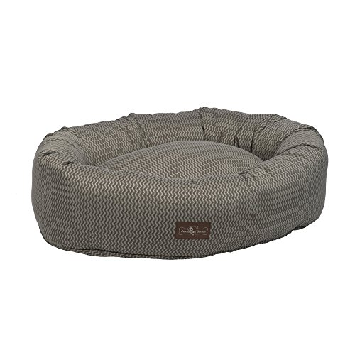 - Jax and Bones Mod Premium Cotton Donut Dog Bed, Medium, Ash