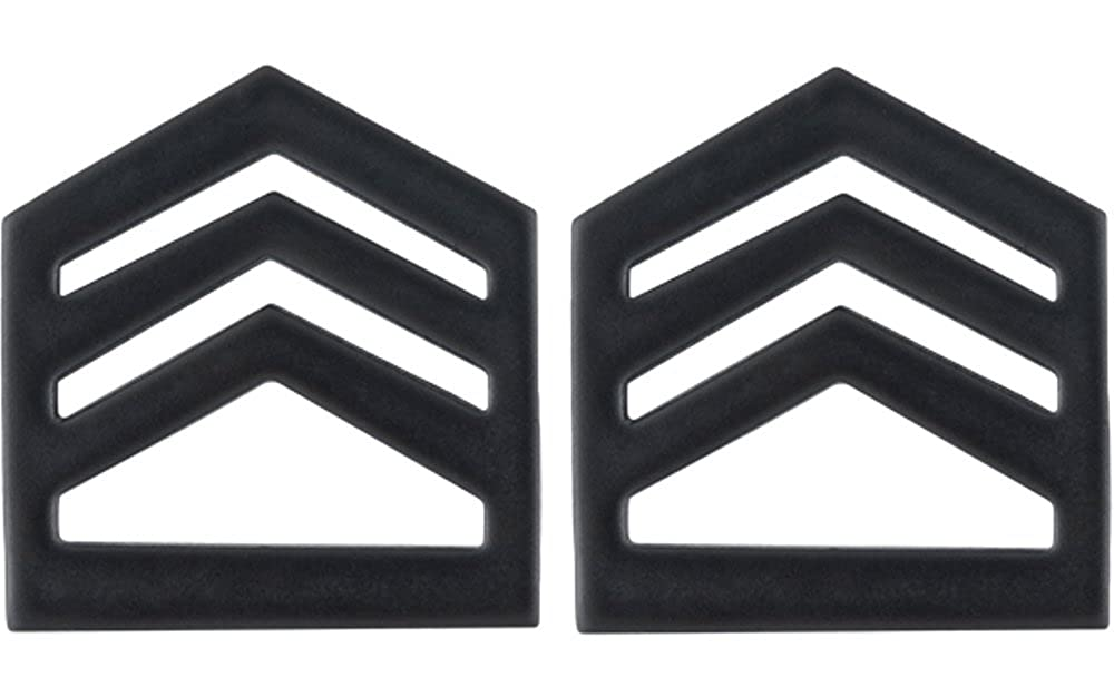 Army ROTC Rank for OFFICER - Subdued Black