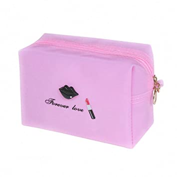 Amazon.com   Fashion Lip Lipstick Pure Color Travel Makeup Bag Large  Capacity Portable Cosmetic Bags Waterproof Handy Pouch Toiletry Bags  Storage Organizer ... e98b7d2a21115