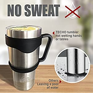 Techo Mug01 Stainless Steel Insulated Tumblers with Lids and Straws Double Wall Cups Vacuum, 30 Oz