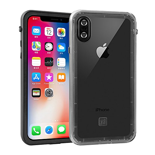 Aggice Waterproof case for Iphone X fully sealed protection Snowproof Dirtproof shockproof cover for iphoneX by Aggice