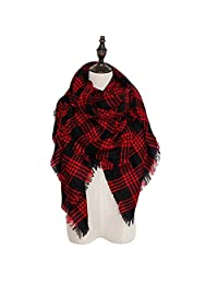 Spring fever Women's Fashion Cozy Tartan Scarf Wrap Warm Shawl Pashmina