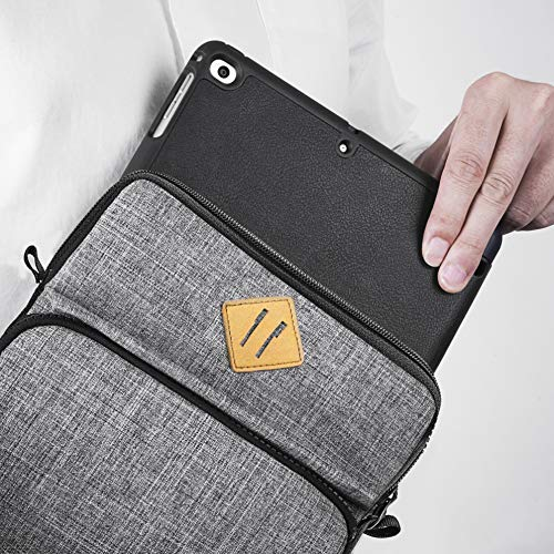 Tomtoc 10.5 Inch Tablet Shoulder Bag Sleeve Case Compatible with 10.5'' iPad Pro | 9.7'' New iPad 2018 | Surface Go | Acer Tab 10 | Samsung Galaxy Tab A 10.1, Apple Pencil & Smart Keyboard Compatible by Tomtoc (Image #4)