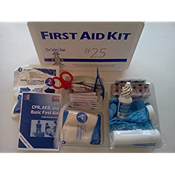 25 Person First Aid Kit, Meets OSHA and ANSI Standards with 3 Tamper proof Seals