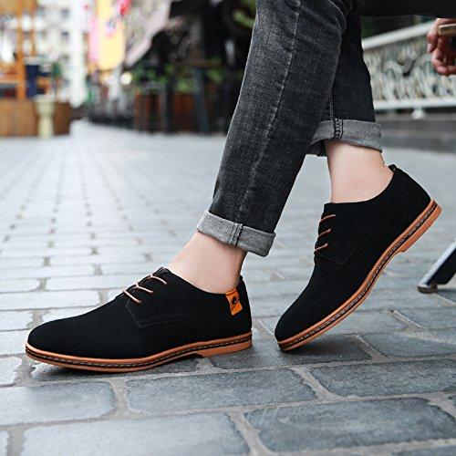 Black 47 Tamaño 45 Zapatos Grande 48 Escarchados Lovdram Botas Hombre Casuales Moda Cuero De 46 q66w7R