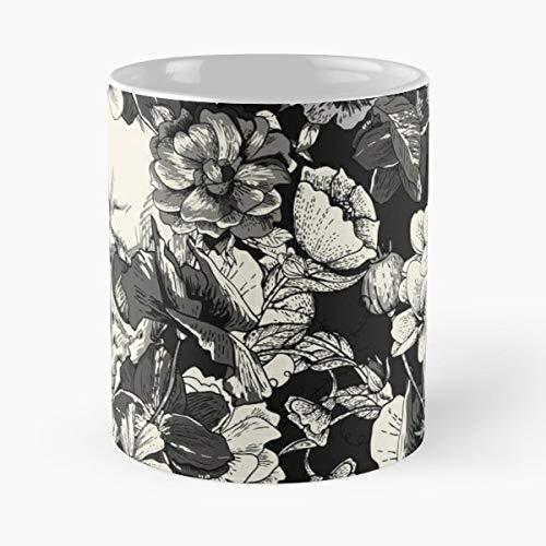 Skulls Skull Black - Ceramic Novelty Cup Best Gift For Father Day]()