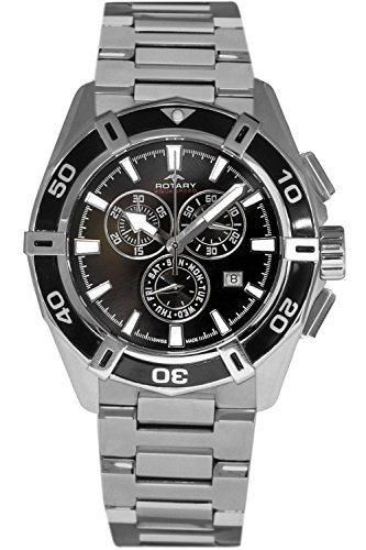 Mens Rotary Aquaspeed Swiss Chronograph Watch AGB90089/C/04