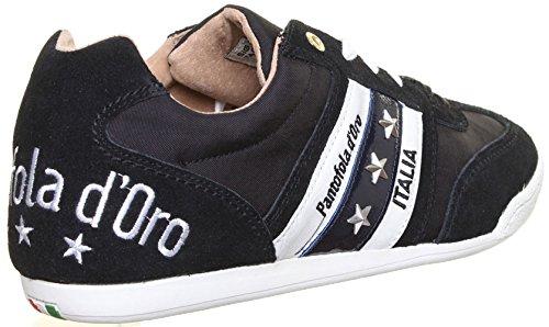 Pantofola d'Oro Ascoli Leag - Zapatillas de cuero para hombre negro - negro