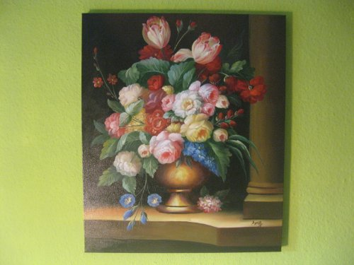 Öl-Gemälde Stillleben Blumenpracht aus Galerie. Handgemalt 40x50cm TOP
