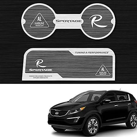 Amazon.es: Patrón de aluminio bloque de dos taza soporte consola placa accesorios 2P para Kia Sportage 2011 2012 2013 2014 2015