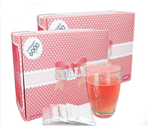Colly Pink Collagen 6000mg: Dietary Supplements for White and Bright Skin (1 box, 30 bags)
