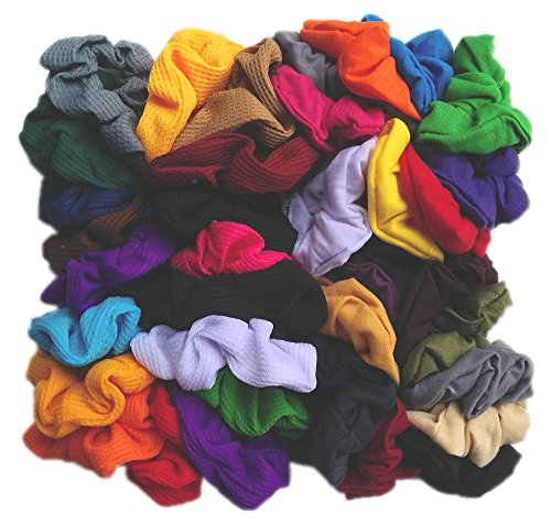 Scrunchie Party Pack - 50 Assorted Scrunchies (Assorted Colors) ()