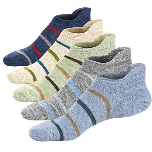 Fun Sock Yarn (M&Z Mens Low Cut Ankle Reinforced Athletic Antiskid Gym/Sport Comfy Socks 5 Pack)