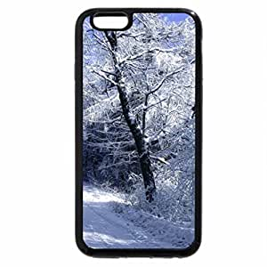 iPhone 6S / iPhone 6 Case (Black) Road through the winter forest