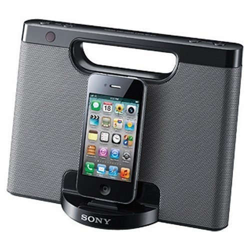 Sony RDPM7IP 30-Pin iPhone/iPod Portable Speaker Dock (Silver) Iphone Ipod Speaker