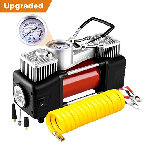 Audew Dual Cylinder Air Compressor Pump, Heavy Duty Portable