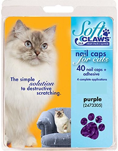 Purple Soft Claws Nail Caps Large 14+ lbs Non CLS