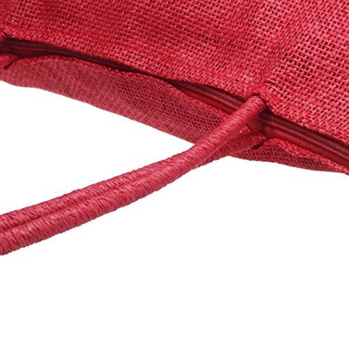Sac bandoulière sac à main Grande Sacs Rouge couleurs Paille de Internet Femmes à plage de Casual bonbons ExnIqg