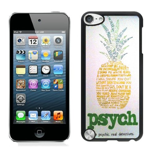 iPod Touch 5 Psych Pineapple 1 Black Shell Cover Case,Durable Case