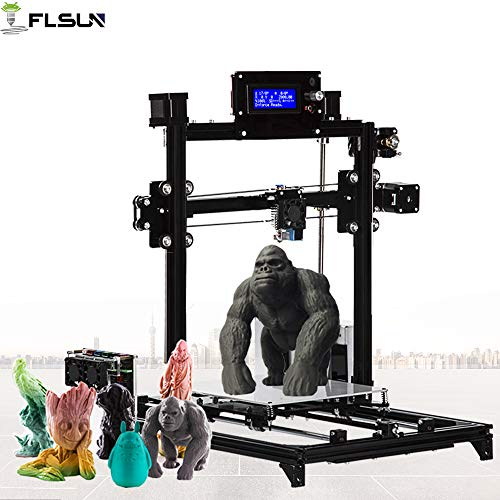 FLSUN 3D Printer Prusa i3 DIY Kit Auto Leveling RepRap Desktop 3D Large Printing Size Heated Bed Full Gifts PLA,ABS Filament ()