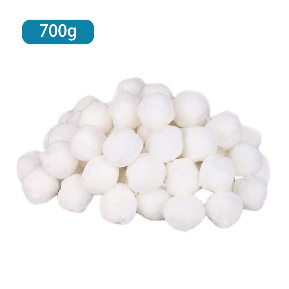 Taimot Pool Filter Balls Eco-Friendly Fiber Filter Media with Alternative to Sand and Filter Glass White Luster Eco-Friendly Filter Media for Swimming Pool Sand Filters for Swimming Pool Sand Filters by Taimot