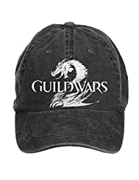 Desig Creato Adjustable Guild Wars Logo Customized Baseball Caps for Unisex Black One Size