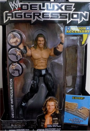 EDGE - WWE Wrestling Deluxe Aggression Series 21 Figure with Breakaway Plank by Jakks