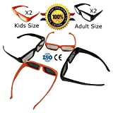 Solar Eclipse Glasses CE and ISO Certified - Safe Solar Viewing - Viewer and Filter - Eye Protection (4 Pack - Kids and Adult)