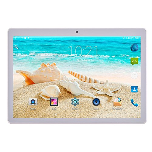10.1 inch Tablet Bluetooth Android 7.0 Octa Core Phablet(Champagne)