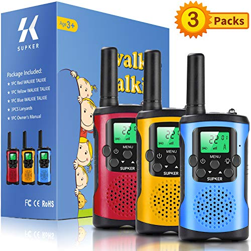 Supker Walkie Talkies for Kids 3Pack