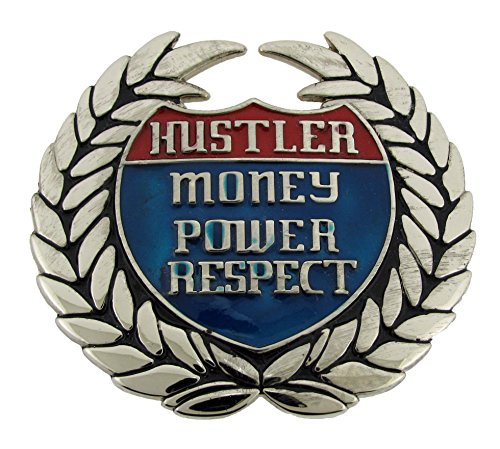 Bottle Opener Belt Buckle Hustler Money Power Respect Costume Gothic Tattoo -