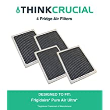 4 Frigidaire Pure Air Ultra Refrigerator Air Filter, Also Fits Electrolux, Compare to Part # EAFCBF PAULTRA 242061001 241754001, Designed & Engineered by Crucial Air