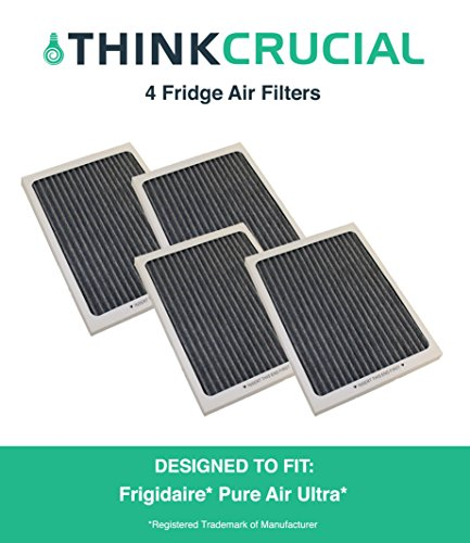 4 Premium Frigidaire Pure Air Ultra Refrigerator Air Filter, Also Fits Electrolux, Compare to Part # EAFCBF, PAULTRA, 242061001, 241754001, by Think Crucial