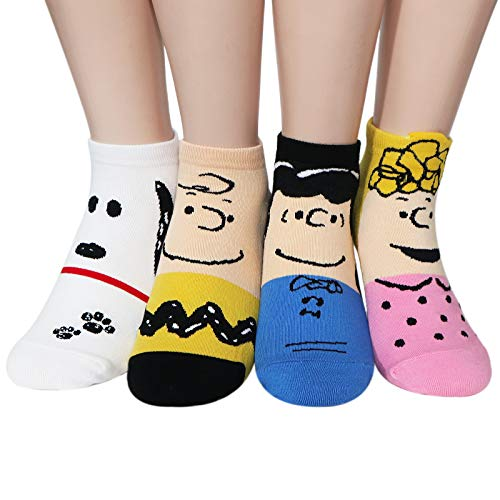 Linus And Sally Halloween Costumes (The Peanuts Snoopy Women and teen girls Licensed Socks Collection Socksense (Capsule)