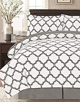 Supper Soft 8 Piece Comforter Set Black/White, King Livingston HK-10016