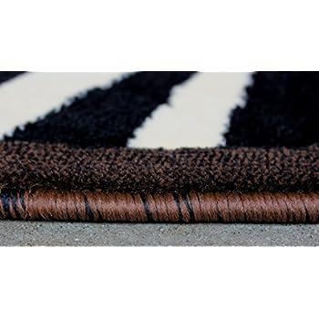 Modern Animal Print, Round Area Rug, Design S 73 Black (6 Feet 8 Inch X 6 Feet 8 Inch) Round