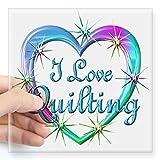quilt car decals - CafePress - I Love Quilting Square Sticker 3