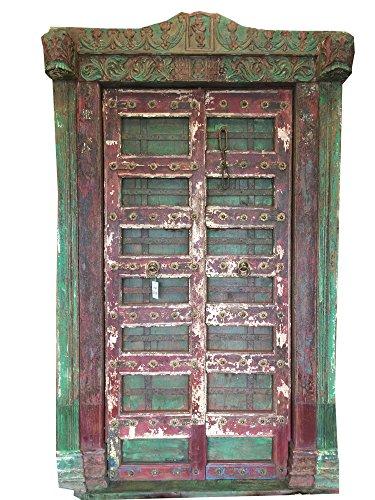Mogulinterior Antique Doors India Krishna Hand Carved Teak Jaipur Architecture by Mogul Interior