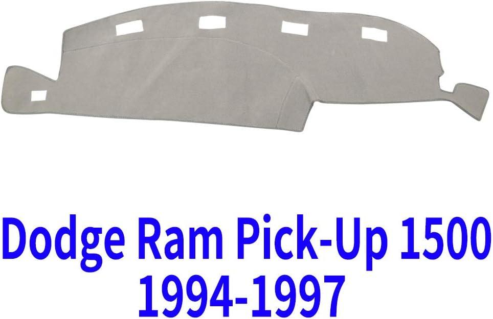 Black MR014 JIAKANUO Auto Car Dashboard Carpet Dash Board Cover Mat Fit for Dodge Ram Truck 2011-2015